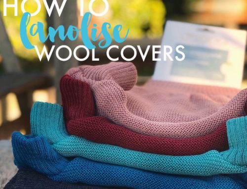How to lanolise wool covers for night time use.
