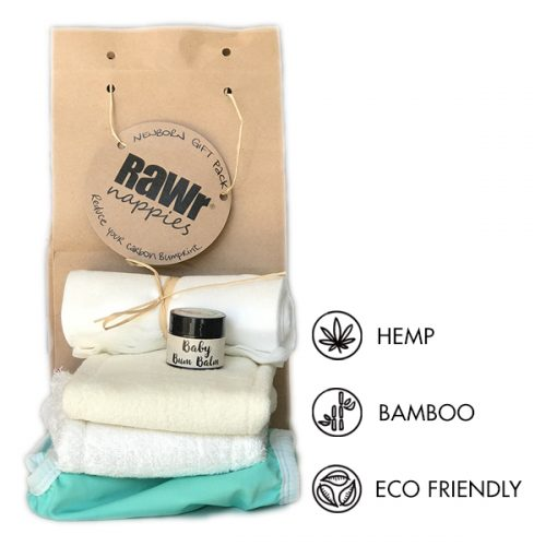 Eco friendly cloth nappy baby shower gift